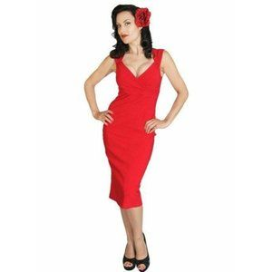 Red Bodycon Diva Dress RockSteady Large Wiggle